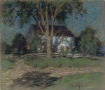 willard leroy metcalf original paintings - moonlight by willard leroy metcalf