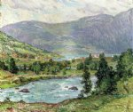 willard leroy metcalf original paintings - mountain lakes olden norwas by willard leroy metcalf