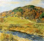 willard leroy metcalf original paintings - november mist by willard leroy metcalf