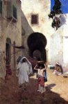 street scene tangiers by willard leroy metcalf acrylic paintings