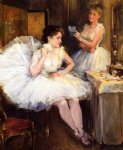 the ballet dancers by willard leroy metcalf acrylic paintings