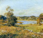 water print - the breath of autumn waterford connecticut by willard leroy metcalf