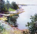 the landing place by willard leroy metcalf painting