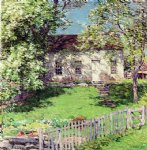 house art - the little white house by willard leroy metcalf