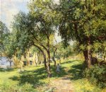 the path by willard leroy metcalf painting