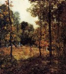 the picnic by willard leroy metcalf painting