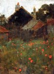 poppy art - the poppy field by willard leroy metcalf