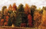 william aiken walker autumn woods at the edge of a cornfield painting