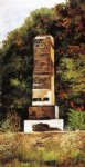 car posters - brick chimney at the edge of a wood north carolina by william aiken walker