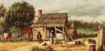 william aiken walker cabin scene paintings