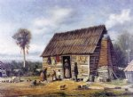 william aiken walker negro cabin by a palm tree painting