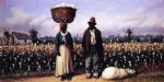 william aiken walker negro man and woman in cotton field with cotton basket and cotton bag painting