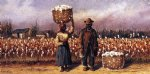 william aiken walker negro man and woman in cotton field with cotton baskets ii painting