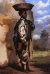 william aiken walker negro youth with basket on head cuba painting