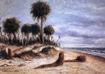 william aiken walker palm trees on the beach at fort walton painting