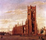 tree famous paintings - st. finebar s church broad street charleston by william aiken walker