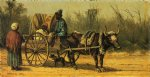 traveling by ox cart by william aiken walker painting