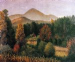 car posters - wooded mountain scene in north carolina ii by william aiken walker