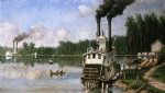 wooding up on the bayou by william aiken walker painting