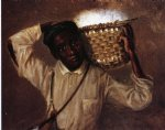 young boy with cotton basket on shoulders by william aiken walker painting