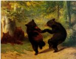 william beard acrylic paintings - dancing bears by william beard