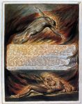 the descent of christ by william blake painting