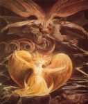 dragon acrylic paintings - the great red dragon and the woman clothed with sun by william blake