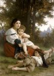 william bouguereau watercolor paintings - rest by william bouguereau