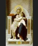 jesus watercolor paintings - the baby jesus and saint john the baptist by william bouguereau