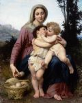 william bouguereau watercolor paintings - the holy family by william bouguereau