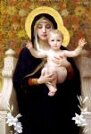 the virgin of the lilies by william bouguereau painting