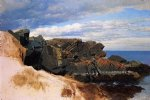 rock study at nahant massachusetts by william bradford painting