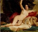 female nude in a landscape by william etty posters