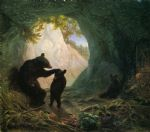 bear and cubs by william holbrook beard painting