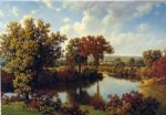 autumn reflections ii by william mason brown painting