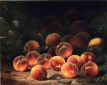 bounty of peaches by william mason brown painting