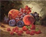 william mason brown watercolor paintings - fruits of summer by william mason brown