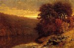 william mason brown october on great otter creek vermont painting