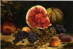 william mason brown still life with watermelon grapes peaches plums and plums prints