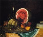 william mason brown still life with watermelon prints