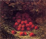strawberries by william mason brown painting