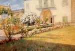 william merritt chase a florentine villa painting