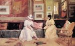 a friendly visit by william merritt chase watercolor paintings