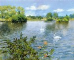 william merritt chase a long island lake painting