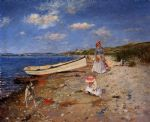 william merritt chase acrylic paintings - a sunny day at shinnecock bay by william merritt chase