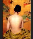 back of a nude by william merritt chase watercolor paintings