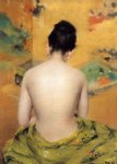 nude original paintings - back of a nude ii by william merritt chase