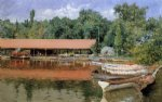 william merritt chase boat house prospect park painting 22573