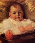 william merritt chase bobbie a portrait sketch painting 22881