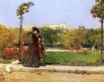 paris art - in the park paris by william merritt chase